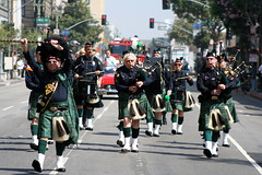 bagpipes and drums (jimw) Tags: drums losangeles parade downtownla bagpipes stpatricksdayparade policeemeraldsociety