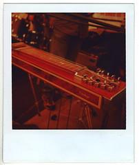 Pedal Steel (Xylographile) Tags: red sun austin mediumformat polaroid texas guitar band austintexas sxsw instrument land pedalsteel 660 southbysouthwest landcamera instantphotography slideguitar sun660 779 pedalsteelguitar 779film polaroid779film polaroidsun660 integralfilm