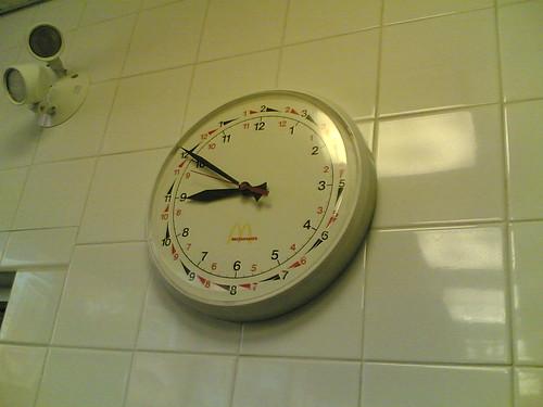 Mysterious McD clock