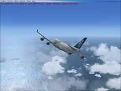 Air New Zealand 747-400 (aViaTioNuT) Tags: screenshots nz boeing airnewzealand 747 flightsimulator fsx b747400 b744 b774 platinumheartaward theperfectphotographer
