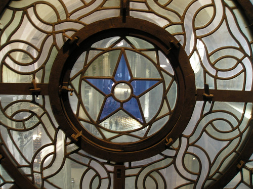 St. Sulpice.Stained Glass in Organ Loft  March 11, 2007