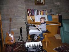 Moritz am Keyboard