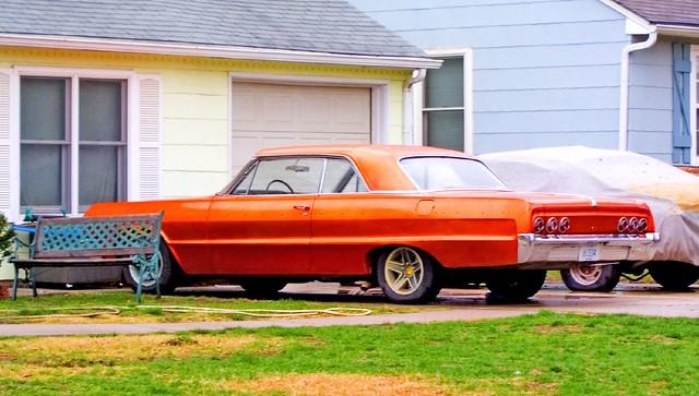 orange classic classiccar tudor chevy 1964 orangecar classicchevrolet 1964chevrolet 1964chevy 1964chevroletimpala 1964chevyimpala