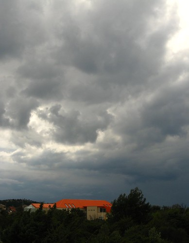 Tough clouds near Rogoznica, Croatia