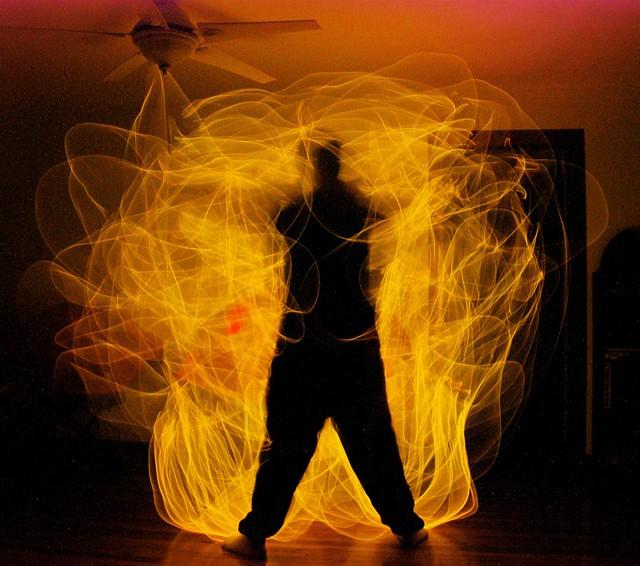 """Light Painting #63 (""""Bumpkin's on Fire"""")"""