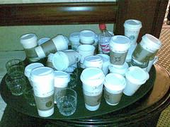 StarbucksCupsAtEtech2007