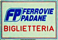 Un simbolo che è storia (Lorenzo Celli) Tags: ferroviepadane fp ftp ggfp gestionecommissarialegovernativadelleferroviepadane ferrovieetranviepadane biglietteria