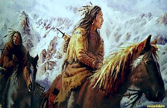 Painting of Native Americans... (zairakhan) Tags: painting artwork artgallery parkcityutah nativeamerican canvas