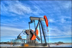 Pumpjack (A guy with A camera) Tags: winter sky snow canada industry clouds rural nikon flickr country gas well pump alberta oil production exploration highdynamicrange resources drilling petroleum pumping pumpjack petrochemicals d80