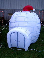 Xmas in Coquitlam #7442 (Nemo's great uncle) Tags: christmas xmas canada bc inflatable coquitlam  igloo