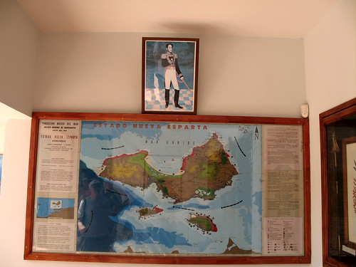 A Margherita Map and history poster snapped during a visit to small museum on the Venezuelan island.