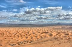 The bigger ski dune (Arne Kuilman) Tags: africa algeria sand nikon desert northafrica dunes sandy dune border d70s explore oasis morocco maroc marocco afrika environment duinen hdr marokko panorma erg merzouga ergchebbi