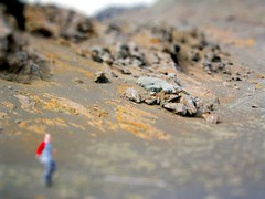 Icelandic Volcanic Moonscape (Littlepixel) Tags: photoshop miniature iceland fake mini fts tiltshift toytown lensblur moonscap railwaylayout