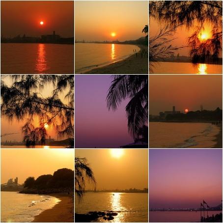 醉人夕照蝴蝶灣 | sunset at the beach