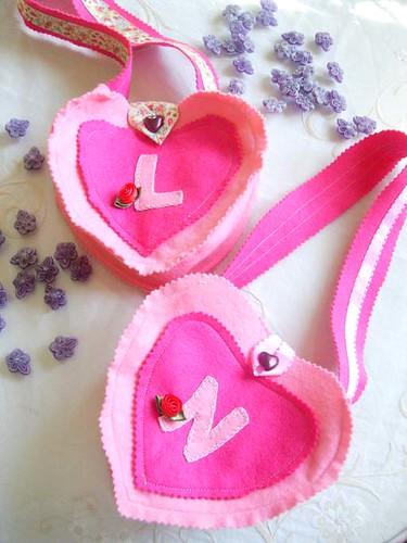 Bolsos de corazon