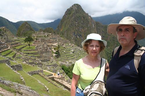 en el Machu Picchu