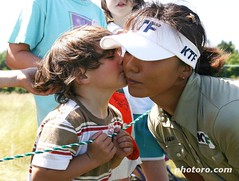Mi Hyun Kim kissed by young fan