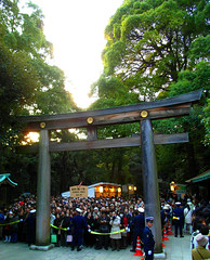 three million wishes (aloalo*) Tags: people japan tokyo shrine first newyear wish torii meijijingu hatsumoude gantan