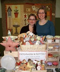 first craft fair (PatchworkPottery) Tags: quilt crafts craft pottery craftfair craftshow craftsale crafttable craftdisplay