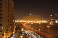 Cairo: traffico di notte (Gaspa) Tags: egypt nile cairo aswan luxor giza egitto sfinge muso piramidi pharaon nilo champollion geroglifici egizio moshea cartigli