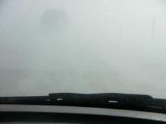 Blinded by Wyoming (cyberhobo) Tags: driving 287 groundblizzard