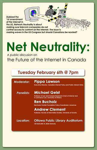 Affiche de la table ronde sur la neutralité du réseau