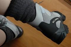 'wearing in' (michenv) Tags: feet socks boots hiking australia scarpa albury hotday newboots ハイキング 山登り hikingboots ブーツ michenv wearingin