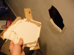 hole in wall (world_of_noise) Tags: wall apartment hole eugene
