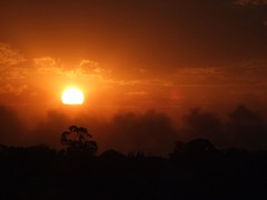Fire in the sky (peaberrygirl) Tags: sunset fire melbourne bushfires
