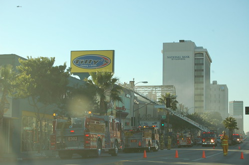 Ventura Blvd. Closed in Both Directions for Store Fire