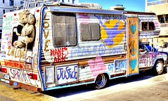 Venice Beach, CA. (Pat's Travelogue) Tags: venice love beach home mobile justice peace parking