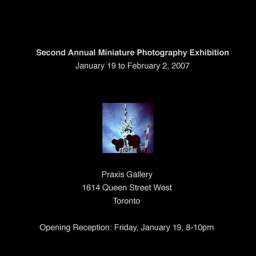 Second annual Miniature Photography Exhibition flyer