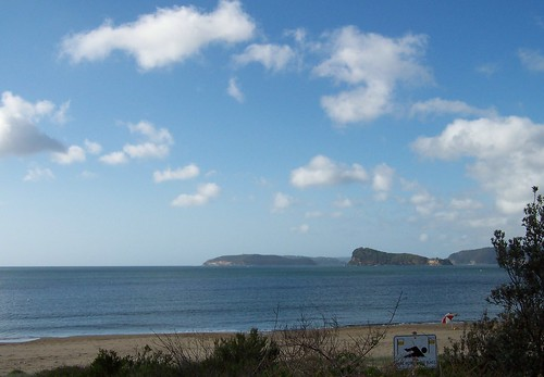 Barrenjoey Head & Lion Island from Umina Beach