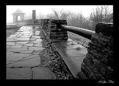 French Azilum.Pennsylvania Trail of History. (Nellie Vin) Tags: blackandwhite history film fog french landscape construction pennsylvania wallart super revolution manual asylum yashica mistyday yashicafx3 route6 nellievin azilum nellievinfineartmagazine fineartphoptography