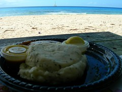 Beachside lunching in Barbados 1
