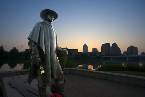austin srv statue by birzer, on Flickr