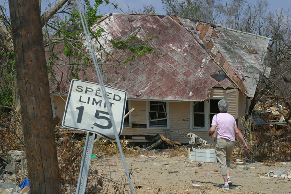 Katrina victim, photo by Kent Kessinger