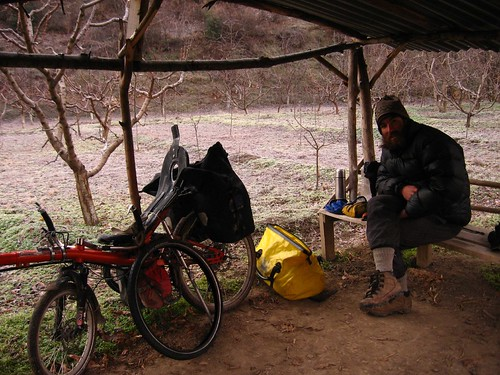 Sleeping in orchard shed, 10km from Amasya, Turkey
