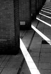 Construction & Light (Dave G Kelly) Tags: barcelona light shadow blackandwhite bw espaa black digital canon lens eos 350d spain europa europe shadows pillar 2006 catalonia september catalunya catalua    10faves september2006 interestingness172 leurope i500   aplusphoto whitecanon 350d1855 davegkelly