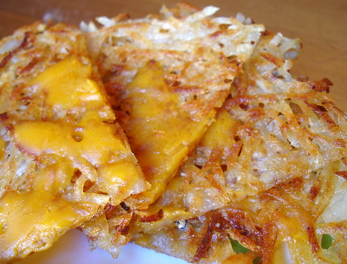 Hash Browns with Vegan Cheese