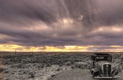 Road Kill (Nikon66) Tags: sky bw color car landscape nikon desert hdr hdri photomatix 1exp hdrsingleraw aplusphoto diamondclassphotographer flickrdiamond copyright