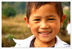 my little hooligan (exhibitj) Tags: nepal boy portrait people face d50 nikon earrings nepali 1870 janata sumon armala