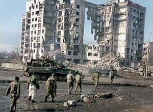 Russian troops in the Chechen capital of Grozny in 2000