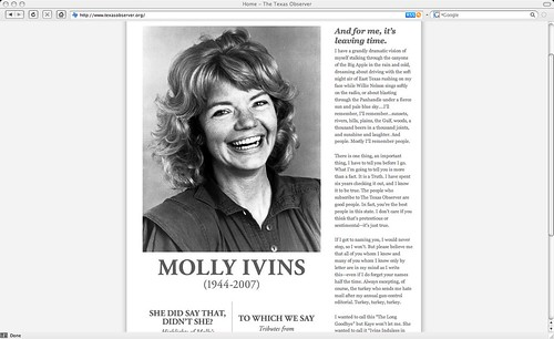 Molly Ivins (1944-2007)