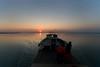 Sun down on the Brahmaputra (Vivek M.) Tags: life india river assam brahmaputra