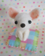 MAYA (Fantastic Toys) Tags: chihuahua felted toy handmade plush softie badge needlefelted fantastictoys