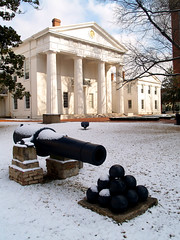 Old State House in the snow
