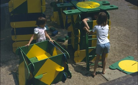Vintage 70's slot-together playground equipment