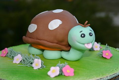 Timmy Turtle (kelannfuller) Tags: cake turtle cupcake fondant buttercream royalicing noveltycake