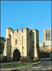 Pottergate Arch, Lincoln (Lincolnian (Brian) - BUSY, in and out) Tags: england stone architecture wow interesting arch medieval lincolnshire lincoln abc oldcity 50club top20castle pottergatearch